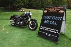 Barrie Harley Davidson provided the prize for the hole in one sponsored by Canada Brokerlink